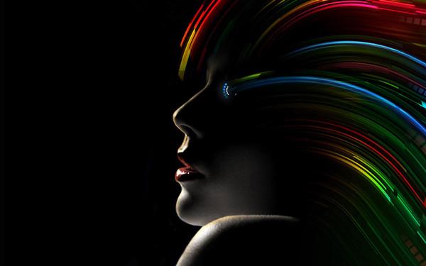 Fond d 39 cran noir portrait femmes for Fond ecran portrait