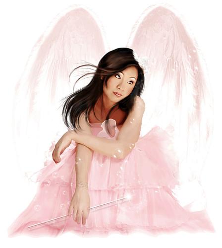 dans fond ecran ange rose 23770501