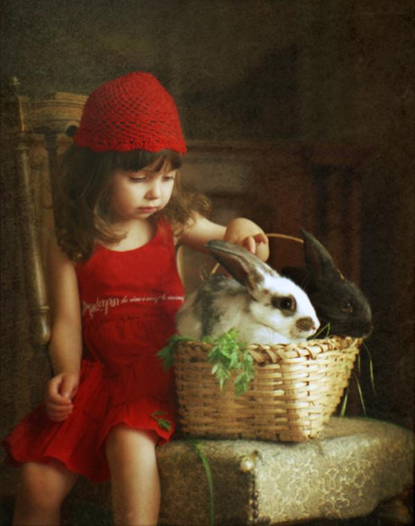 fillette et son lapin