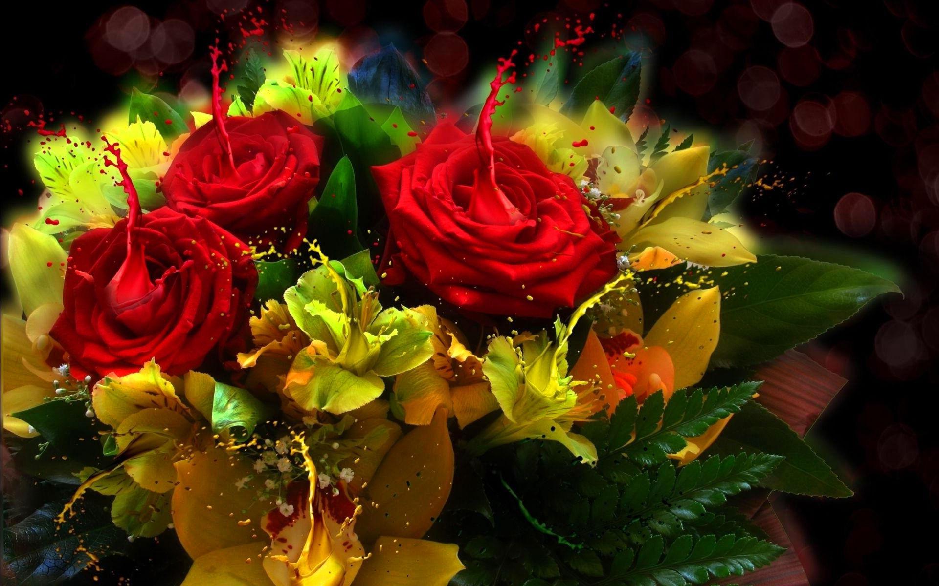 Résultat d'images pour joli bouquet de fleurs